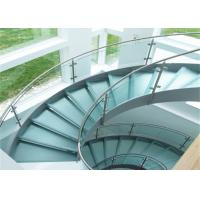 316ss Indoor Building Curved Stairs Tempered Glass Railing Top Handrail Customized Manufactures