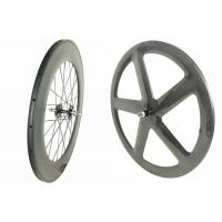 Quality 3k /12k Full Carbon Fixed Gear Wheelset 700c With Customized Painting for sale
