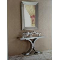 Popular White Gloss Console Table With Wall Mirror Opsite Double C Design Manufactures