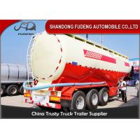 China Double Cabin Cement Tanker Trailer / Cement Bulk Trailer With ABS Brake System on sale