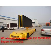 factory sale best price outdoor mobile digital LED billboard advertising trailer, best price mobile LED screen vehicle Manufactures
