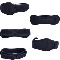 Black Sports Safety Products Adjustable Patella Knee Wraps Safety Guard Strap Manufactures