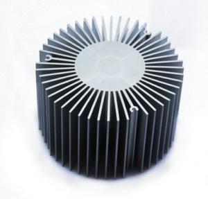 Led Aluminium Heatsink Extrusions , Silvery / Black Anodized Extruded Aluminium Profiles Manufactures