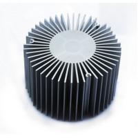 Led Aluminium Heatsink Extrusions , Silvery / Black Anodized Extruded Aluminium Profiles Manufactures