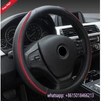 Peru hot sell black red M size S size L size car steering wheel covers Manufactures