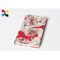 China Flower Cover Custom Printed Notebooks 200 Pages Hot Stamping Matt Lamination on sale