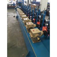 Blue color Low Carbon Steel Round / Square / Rectangular Tube Mill Line I.D Φ450-Φ550mm Manufactures