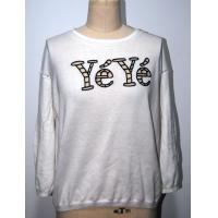 Combed Cotton Floral Print Sweater With Letters Embroidery BGAX16290 Manufactures