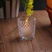Recycled High White Glass Tealight Candle Holders For Wedding Decoration Manufactures