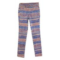 Colored Elastan Printed Ladies Casual Pants with Five Pocket Manufactures