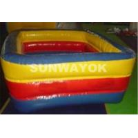 Durable PVC Inflatable Portable Swimming Pools 0.9mm Or 0.6mm Blue Manufactures