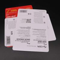 Customized Business Paper Cards , Colouful Goods Insert Packing Card Manufactures