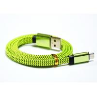 Glossy Fabric Fast Charging Cable Supports USB 2.0 / High Speed / Green Manufactures