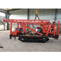 Mobile Geologic Investigation Mining Well Drilling Equipment Portable Low Noise Crawler Mounted Drill Rig Manufactures