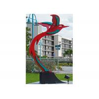 Custom Modern Painted Public Art Stainless Steel Flying Bird Sculpture Manufactures