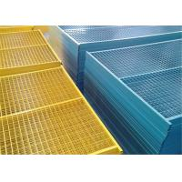 Quality 6'x9.6'  Construction Security Temp Fence Panels Tubing 30mm*30mm brace 20mm*20mm Powder Coated Red for sale