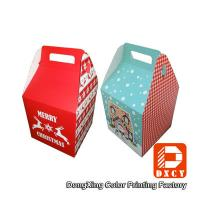 Beautiful Small Food Grade Cardboard Boxes For Food Packaging With Handles Manufactures