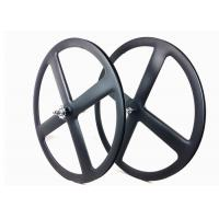 Buy cheap UD Carbon 4 Spoke Wheel 700C 23MM Width Track Bike Wheel Tubular Clincher from wholesalers