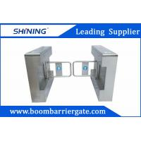 1.5mm Steel High Speed Gate / Swing Barrier Gate For Biometric Access Control Manufactures