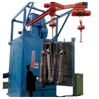 Q378 Double hook type shot blasting machine for Cleaning and rust removal of fitness equipment Manufactures