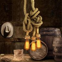 Creative Personality Edison Bulb Vintage Rope Pendant Light Industrial Lamp American Style For Living Room Manufactures