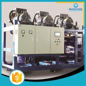 CO2 Supermarket Refrigeration Systems , Screw Compressor Rack Refrigeration Manufactures
