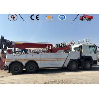 Sinotruk 30 Ton Road Block Removal Flatbed Wrecker Tow Truck 8x4 Type Manufactures