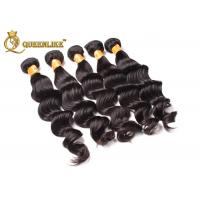 Colorful Remy 100% Indian Human Hair Weave Kinky Curly / Deep Wave Virgin Hair Manufactures