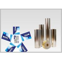 Vacuum Metallic Foil Paper Single Sided Coating , Easy To Wash Away From Bottles For Glass Bottle labels Manufactures