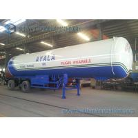 Safety Tri Axle 21T LPG Tank Trailer 50000L High Performance Manufactures