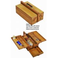 Commecial Artist Storage Box With Drawer , Wooden Craft Storage Box For Paintings Manufactures
