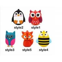 Special Design usb flash drive 64gb pendrive 16gb u disk 4gb High Speed Fox Usb 2.0 flash card cartoon Manufactures