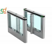 Toughened Glass Automatic Turnstiles Infrared Sensor Pedestrian Slim Fast Gate Manufactures
