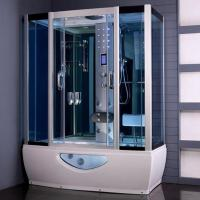 Tempered Glass Rectangular Shower Enclosure Steam Tub Shower Combo With Shower