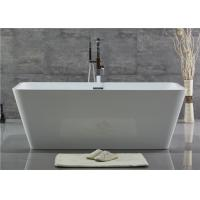 Customized Acrylic Free Standing Bathtub With Center Position Drainer Manufactures