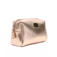Beautiful Small Cross Stripe PU leather Makeup Bag for Travel Manufactures