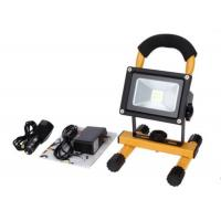 10W Waterproof Rechargeable LED Flood Lights Black Aluminum 4 Hours Portable Manufactures