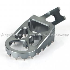 Oversized Wide Dirt Bike Foot Pegs , Honda CRF 250 450 Aluminum Alloy motocross footpegs Manufactures
