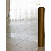 Gold coating cylinder swing gate for Luxury shops/offices Manufactures