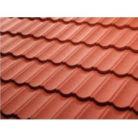 Color Stone Coated Steel Roof Tiles , Stone Coated Roofing Sheet Alum - Zinc Steel Sheet Material Manufactures