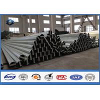 Material Q345 30FT 9150mm Galvanised Steel Pole 2.75MM / 3.0MM Wall thickness Manufactures
