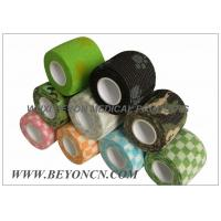 Patterned Prints Cohesive Colored Sport Tape Logo Imprinted , Black Athletic Tape Manufactures