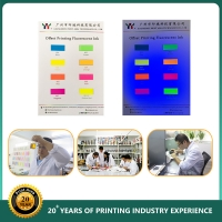 High Quality YY Offset Printing Fluorescent Ink , 801-807 colors for Paper Manufactures