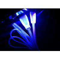 Blue Color Night Light Up Micro USB Charging Cable For Android Phones Manufactures