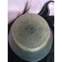 Quality Wholesale Quality Indian Remy Hair Piece Jet Black Human Hair Silk Top Women Toupee for sale