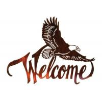 American Bald Eagle Welcome Large Metal Wall Sculptures For Home Decorations Manufactures