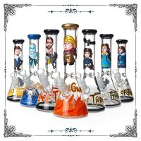10 Inches New Glass Art Bong Beaker Bottom Hand Drawn Glass Smoking Pipe Mix Design Manufactures