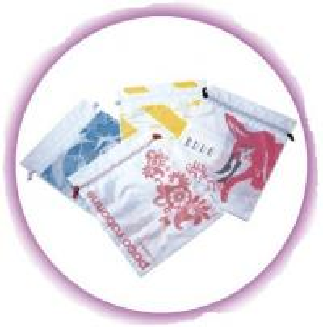 Quality Personalized CPE / LDPE Drawstring Plastic Bags For Girls Underwear / Bra / Bikini / Vest for sale