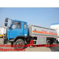 Quality Factory customized dongfeng 4*2 RHD 10,000L gasoline tank delivery truck for sale,cheapest dongfeng 10m3 fuel tank truck for sale