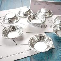 Quality 69mm Small Cake Baking Containers , Disposable Aluminum Foil Egg Tart Containers for sale